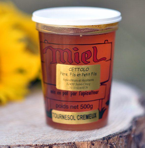 miel de tournesol crémeux